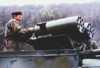 Бронепоезд боснийских сербов в Краине времен югославской войны