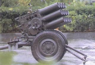 Буксируемая реактивная пусковая система Type 63. Китай