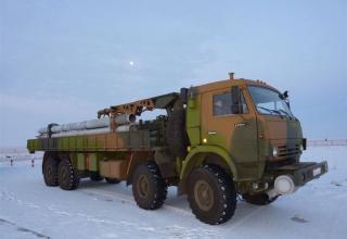 """Стрельбовые испытания опытного образца боевой машины 9А52-4 РСЗО """"Смерч"""""""