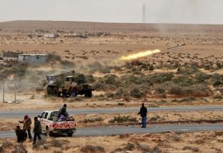 Стрельба с боевой машины БМ-21