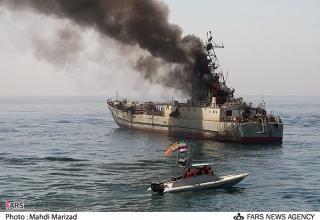 Наблюдение за повреждением на корабле-цели