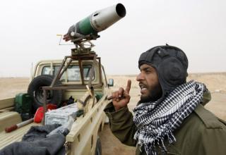 Восточный вход Аджабии. Ливия. 7 апреля 2011 г.