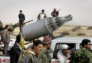 Место около города Брега. Ливия. 6 апреля 2011 года.