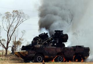 Уничтоженный авиаударом НАТО ливийский ЗРК
