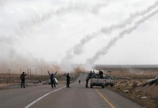 14 апреля 2011 года. Запад Адждабии. Ливия.