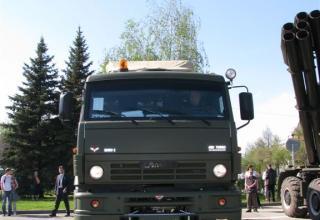 Вид спереди боевой машины зенитного ракетно-пушечного комплекса типа Панцирь. ©С.В. Гуров.