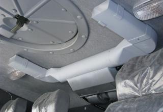Вид части люка и кондиционера внутри кабины. ©С.В. Гуров.