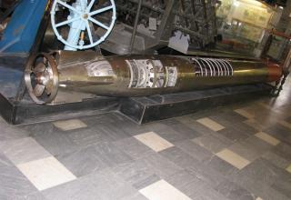 Макет электрической бесследной торпеды