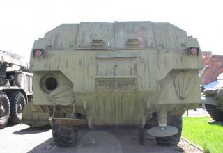 Пусковая установка 9П129 с ракетой 9М79. Вид сзади. ©С.В.Гуров
