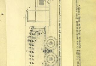 Фотографии из Отчета по заданию № З-693/3129 за 1939 год (испытания механизированных установок, пускового станка и ракетных снарядов)