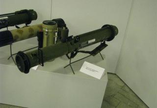 Вид макета гранатомета одноразового применения РШГ-1