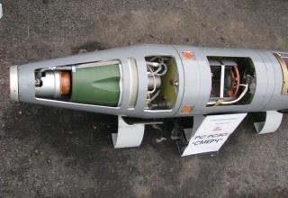 Вид блока системы управления макета корректируемого реактивного снаряда РСЗО