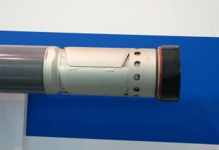 Вид хвостовой части макета неуправляемой авиационной ракеты С-13 ОФС1©С.В. Гуров (г.Тула)