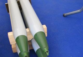 Макет неуправляемой авиационной ракеты С-8ОФП (в четырех экземплярах) ©С.В. Гуров (г.Тула)