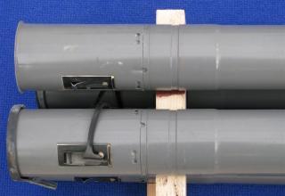 Элемент конструкции макета неуправляемой авиационной ракеты С-8ОФП (в четырех экземплярах) ©С.В. Гуров (г.Тула)