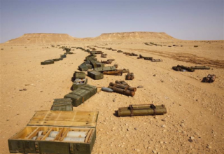 Пустыня. Около 130 км юга от города Сирт. 30 октября 2011 г. REUTERS/Youssef Boudlal. http://www.trust.org