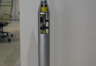 Макет головной части неуправляемого реактивного снаряда 9М218 для РСЗО