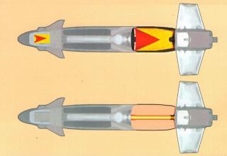 Рисунки управляемых ракет с тандемной кумулятивной и термобарической головными частями