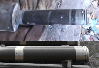 Сверху: самодельный (Т)РС калибра 107 мм. Bjorn Holst Jespern. http://atwar.blogs.nytimes.com/2012/10/18