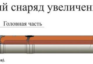 """Рисунок корректируемого реактивного снаряда увеличенной дальности 9М542 для РСЗО """"Смерч"""""""