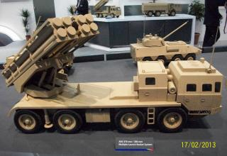 """Макет БМ AR3 для пуска снарядов калибров 300 и 370 мм (Китай). ©И.В. Кузнецов (ОАО """"НПО """"СПЛАВ"""" г.Тула)"""