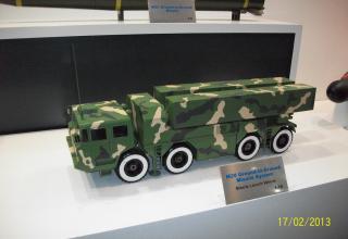 Макет БМ ракетной системы М20 класса