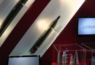 """Макет турбореактивного снаряда калибра 107 мм (Китай). ©И.В. Кузнецов (ОАО """"НПО """"СПЛАВ"""" г.Тула)"""
