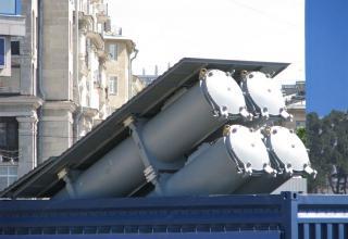 Вид спереди контейнеров модульной пусковой установки на базе 20-футового морского контейнера. ©С.В.Гуров (Россия, г.Тула)