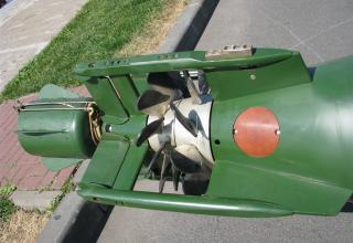 Хвостовая часть макета универсальной электрической телеуправляемой самонаводящейся торпеды