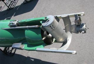 Хвостовая часть макета универсальной глубоководной самонаводящейся торпеды