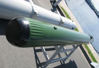 Макет антиторпеды из состава малогабаритного противолодочного комплекса МПТК
