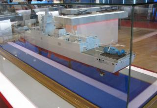 Модель многоцелевого фрегата пр.22356. ©С.В.Гуров (Россия, г.Тула)