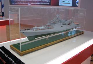 Модель сторожевого корабля (фрегата) пр.11356. ©С.В.Гуров (Россия, г.Тула)