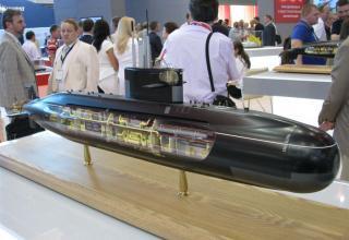 Модель дизель-электрической подводной лодки