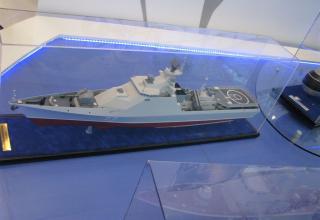 Модель малого противолодочного боевого корабля пр.1124М. ©С.В.Гуров (Россия, г.Тула)
