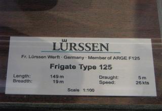 Данные фрегата Type 125 (Германия). ©С.В.Гуров (Россия, г.Тула)