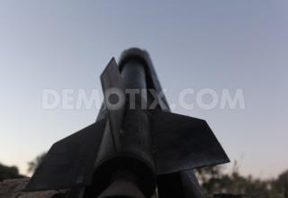 Ракетная установка после подготовки боевиками ССА в Binnish, около Идлиба, Северная Сирия. www.demotix.com. Опубл. 01.07.2013 г.