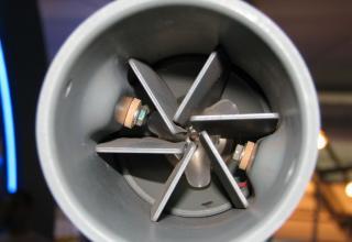Вид заднего среза макета неуправляемой авиационной ракеты С-8ДФ.©С.В.Гуров (Россия, г.Тула)