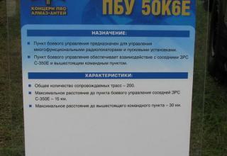 Штендер по пункту боевого управления ЗРС-350Е