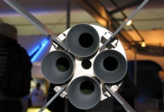 Вид соплового блока макета неуправляемой авиационной ракеты С-13ДФ. ©С.В.Гуров (Россия, г.Тула)