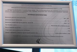 Данные по авиационной высокоскоростной противорадиолокационной ракете Х-31ПД. ©С.В.Гуров (Россия, г.Тула)