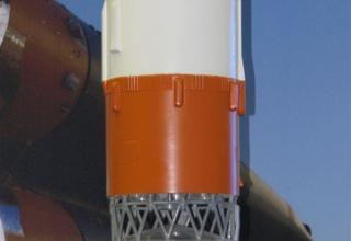 Элемент конструкции макета ракеты-носителя. ©С.В.Гуров (Россия, г.Тула)