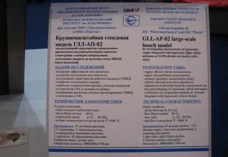 Данные крупномасштабной стендовой модели ГЛЛ-АП-02. ©С.В.Гуров (Россия, г.Тула)