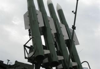Демонстрационный вариант самоходной огневой установки СОУ 9А317Э из состава ЗРК