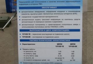 Штендер по малогабаритной радиолокационной станции 1Л122Е. ©С.В.Гуров (Россия, г.Тула)