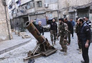Самодельная ракетная установка боевиков ССА. http://www.dailymail.co.uk. Опубликовано 01.01.2014 г.