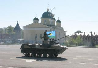 Военный Парад, посвященный 69-ой годовщине Великой Победы в Великой Отечественной Войне 1941-1945 годов в городе Туле с участием образцов ракетной техники