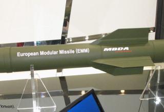 Макет EMM (европейская модульная управляемая ракета) от европейского концерна MBDA. 20.05.2014 г. ©Tomasz Szulc (Польша).