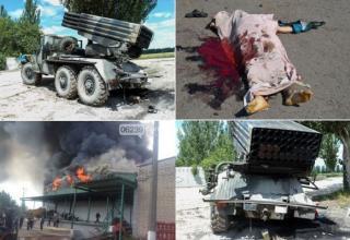 Обстрел Доброполье. http://news.bigmir.net/ukraine/823655-Dobropol-e-obstreljali-iz-ustanovki-Grad--Est--zhertvy--foto--video-