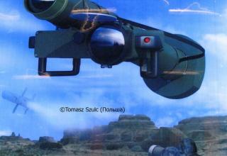 Постер по многоцелевой УР Red Arrow 12 (HJ12) (Китай). ©Tomasz Szulc (Польша).